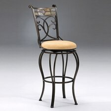 "Pompei 30"" Swivel Bar Stool with Cushion"