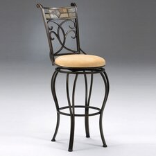 "<strong>Hillsdale Furniture</strong> Pompei 24"" Swivel Bar Stool with Cushion"