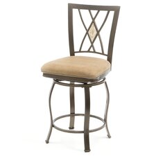 "<strong>Hillsdale Furniture</strong> Brookside 24"" Swivel Bar Stool with Cushion"