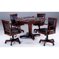 Ambassador 5 Piece Poker Table Set