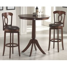 Plainview Bar Height Bistro Table with Corsica Stools in Brown