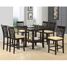 Tabacon Counter Height 7 Piece Dining Table Set in Cappuccino