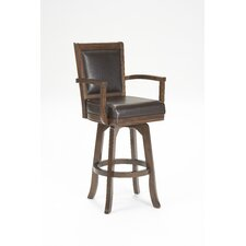 "Ambassador 30"" Swivel Bar Stool in Rich Cherry"