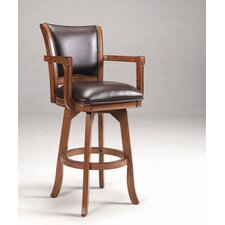 "Park View 30"" Swivel Bar Stool in Medium Brown Oak"