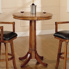 Park View Bar Height Table in Medium Brown Oak