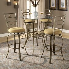 Brookside Bar Height Glass Bistro Table with Marin Stools