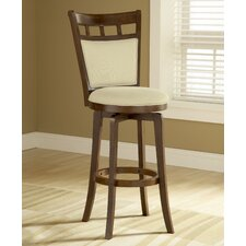 "Jefferson 24"" Swivel Counter Stool with Cushion Back"