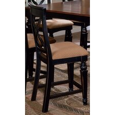 "Northern Heights 24"" Bar Stool with Cushion (Set of 2)"