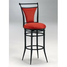 Cierra Swivel Bar Stool - Flame Fabric