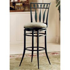 "Hudson 30"" Swivel Bar Stool with Stone Fabric"