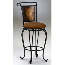 "Milan 30"" Swivel Bar Stool with Cushion"