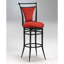 "Cierra 26"" Swivel Counter Stool - Flame Fabric"