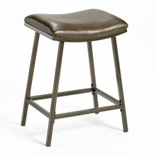 "Saddle 24"" Barstool with Nested Leg in Brown Copper"