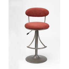 Venus Adjustable Swivel Bar Stool - Flame Faux Suede