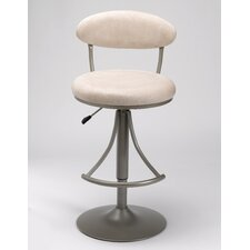 Venus Adjustable Swivel Bar Stool - Fawn Faux Suede