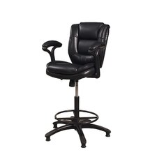 "<strong>Hillsdale Furniture</strong> Dawson 25"" Adjustable Swivel Bar Stool with Cushion"