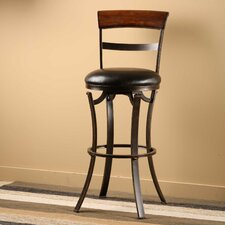 "Kennedy 26"" Swivel Bar Stool with Cushion"
