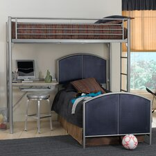 <strong>Hillsdale Furniture</strong> Universal Youth Twin over Twin L-Shaped Bunk Bed with Built-In Ladder and Desk
