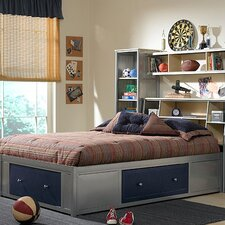<strong>Hillsdale Furniture</strong> Universal Youth Storage Platform Bed with Bookcase Headboard