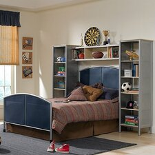 4-Piece Universal Youth Mesh Bedroom Set with Wall Storage