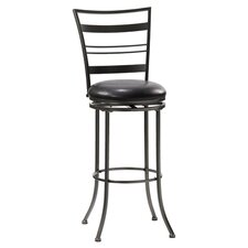 "Holland 24"" Swivel Counter Stool in Pewter"