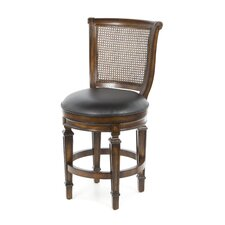 "Dalton 24"" Swivel Bar Stool with Cushion"