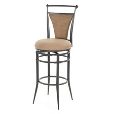 "Cierra 30"" Swivel Bar Stool - Bear Fabric"