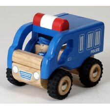 Mini Police Car Wooden Vehicle