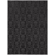 Magic Odor Eliminating Black Skulls Rug