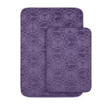<strong>Garland Rug</strong> Peace Bath Rug (Set of 2)
