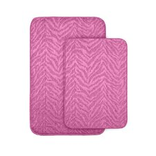 <strong>Garland Rug</strong> Zebra Bath Rug (Set of 2)