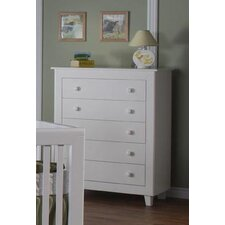 Gala 5-Drawer Chest in White