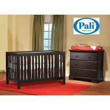 Pali Imperia Forever Crib Set and Volterra 3 Drawer Dresser Set