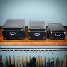 Retro Collapsible Storage Boxes (Set of 3)
