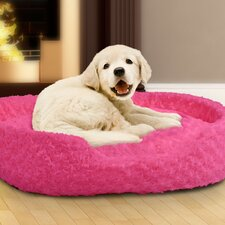 Cuddle Round Plush Dog Bed with Open Front