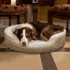 Snuggle Round Comfy Fur Donut Dog Bed