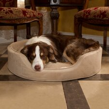 <strong>PAW</strong> Cuddle Round Suede Terry Nest Dog Bed