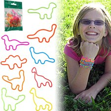 24 Dinosaurs Shaped Rubber Bands