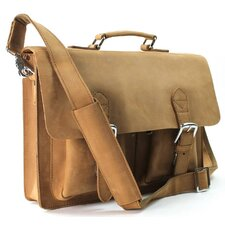 "15"" Cowhide Stylish Leather Laptop Bag"