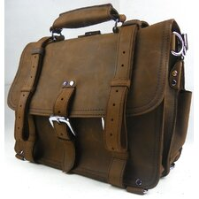 Classic Clasp Leather Briefcase