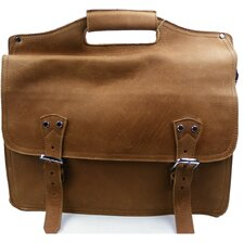 <strong>Vagabond Traveler</strong> Easy Access Leather Laptop Briefcase