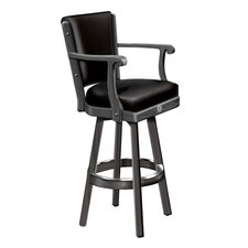 Jack Daniel's Wood Bar Stool With Backrest