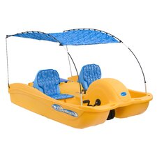 <strong>Future Beach</strong> Equinoxx 5 Person Pedal Boat with Bimini Top and Seat Cushion