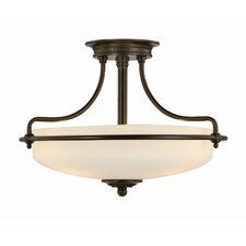Griffin 3 Light Semi Flush Light