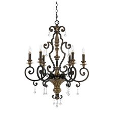 Marquette 6 Light Crystal Chandelier