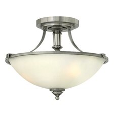 Truman 3 Light Hall Semi Flush Mount