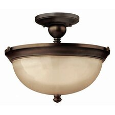 Mayflower 3 Light Semi Flush Mount