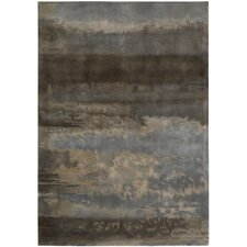 Luster Wash Gray/Blue Slate Scene Area Rug