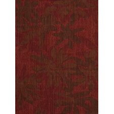 Urban Garnet Winter Flower Area Rug