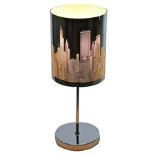 """Urban Skyline 20.5"""" H Table Lamp with Drum Shade"""